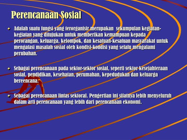 Perencanaan Sosial