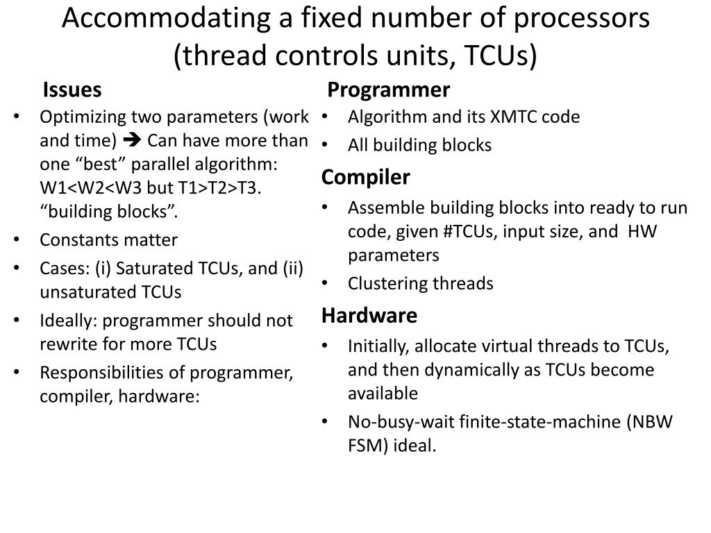 Accommodating a fixed number of processors