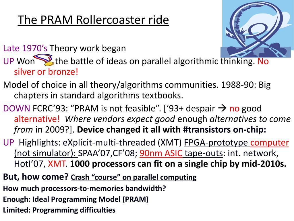 The PRAM Rollercoaster ride