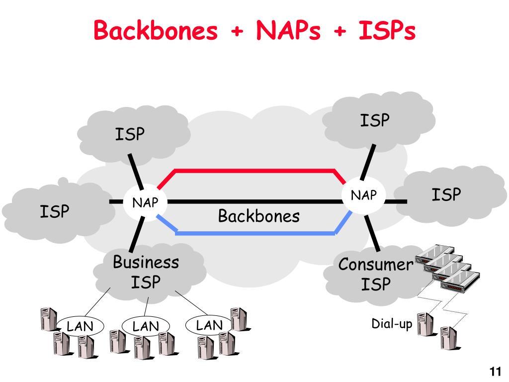 Backbones + NAPs + ISPs