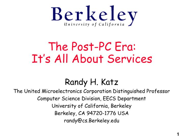The post pc era it s all about services