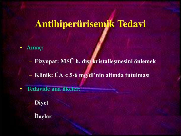 Antihiperürisemik Tedavi