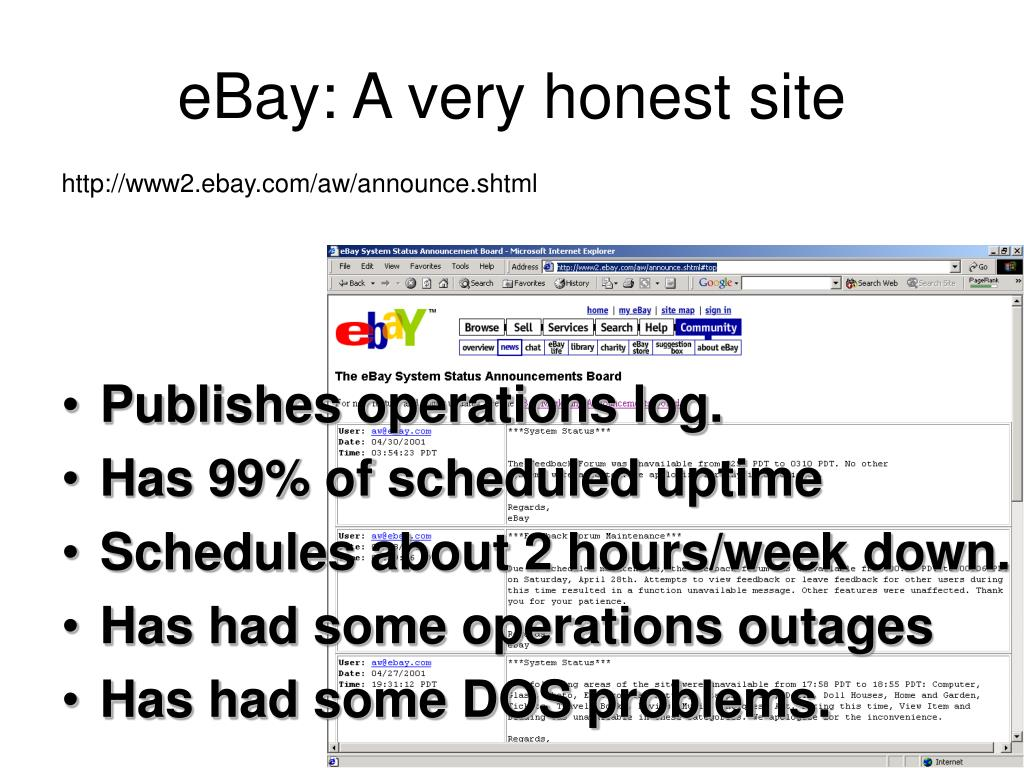 eBay: A very honest site