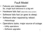 fault model