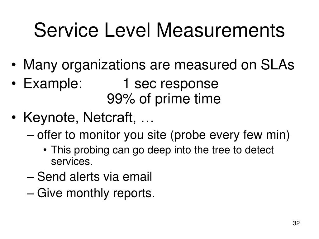 Service Level Measurements
