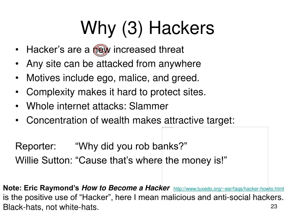 Why (3) Hackers