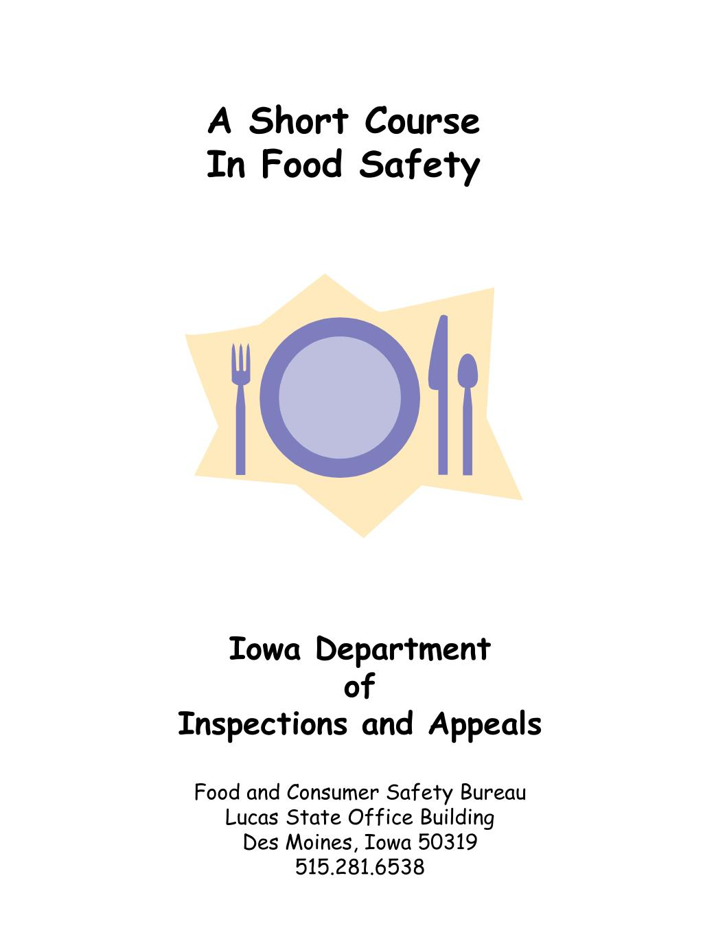 A Short Course In Food Safety