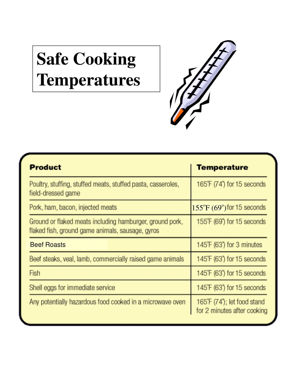 Safe Cooking Temperatures
