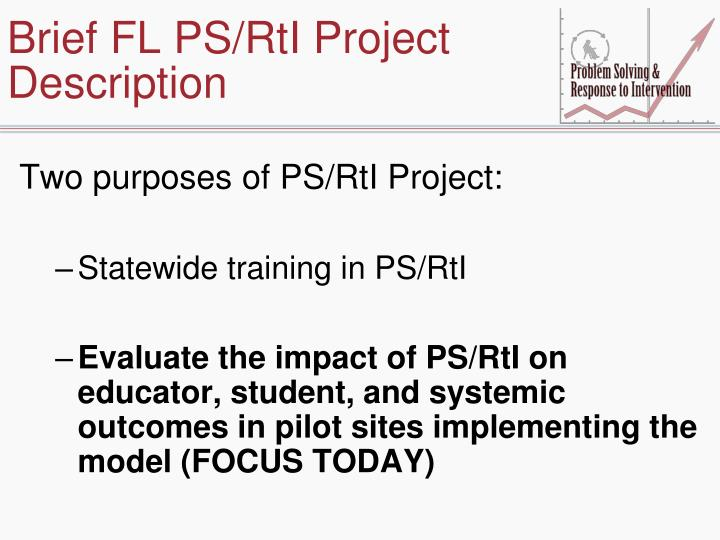 Brief FL PS/RtI Project Description