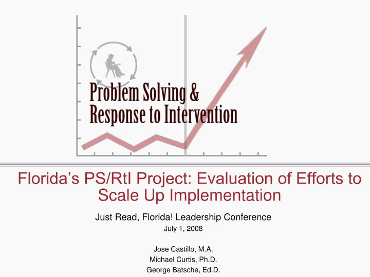 Florida s ps rti project evaluation of efforts to scale up implementation