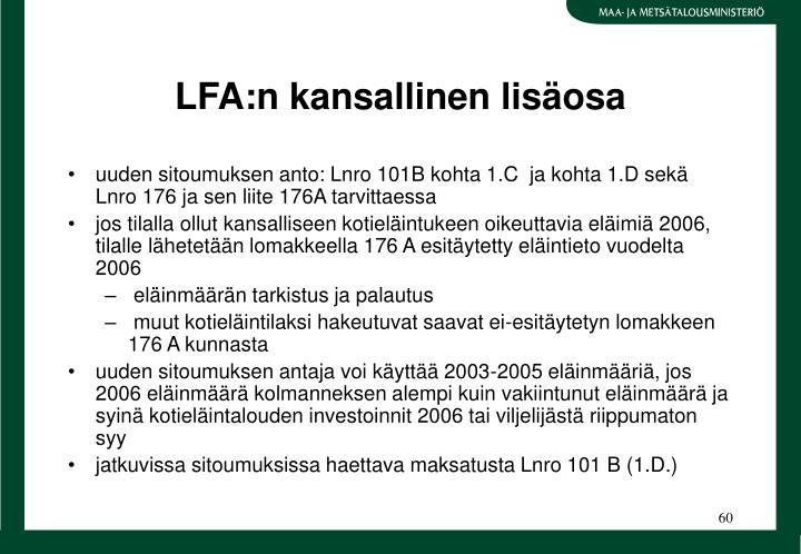 LFA:n kansallinen lisosa