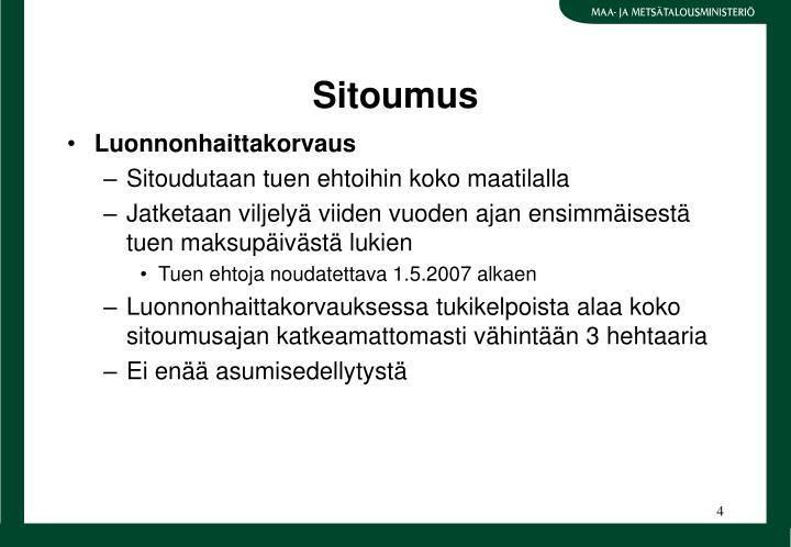 Sitoumus