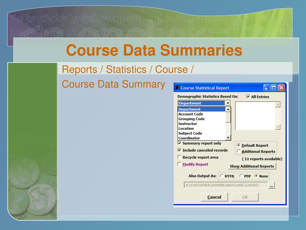 Course Data Summaries