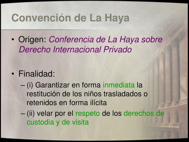 Convención de La Haya
