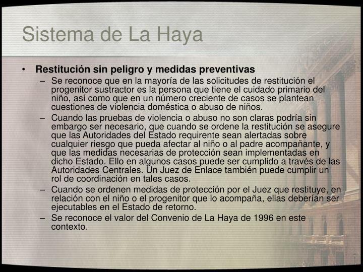 Sistema de La Haya