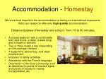 accommodation homestay