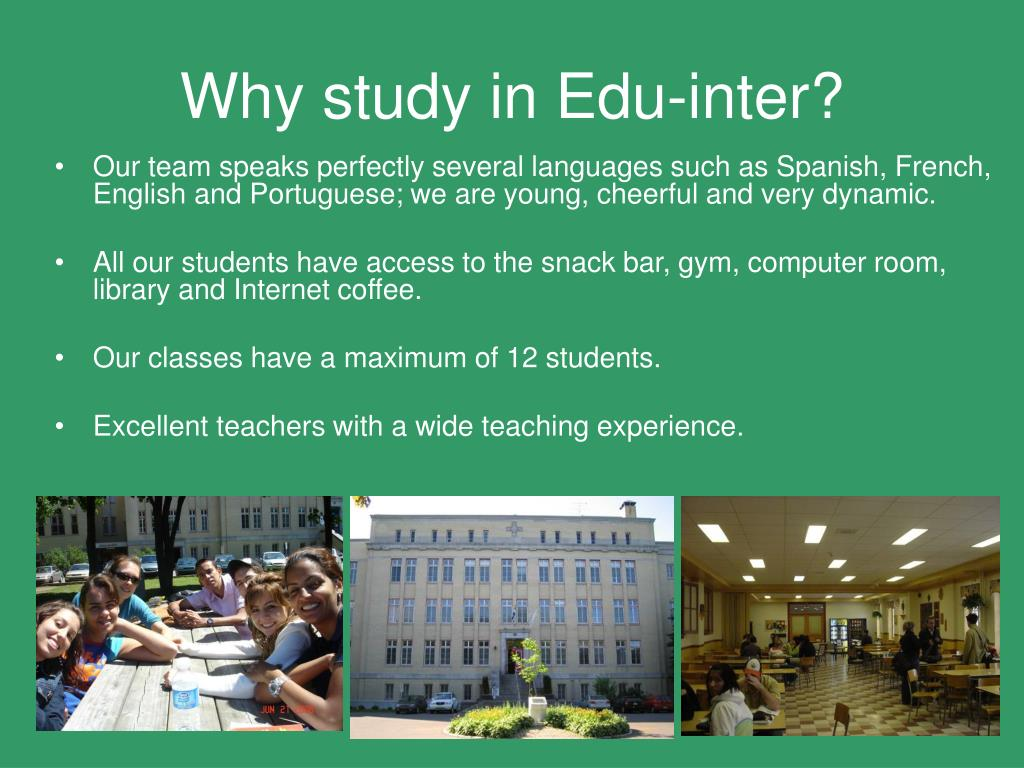 Why study in Edu-inter?