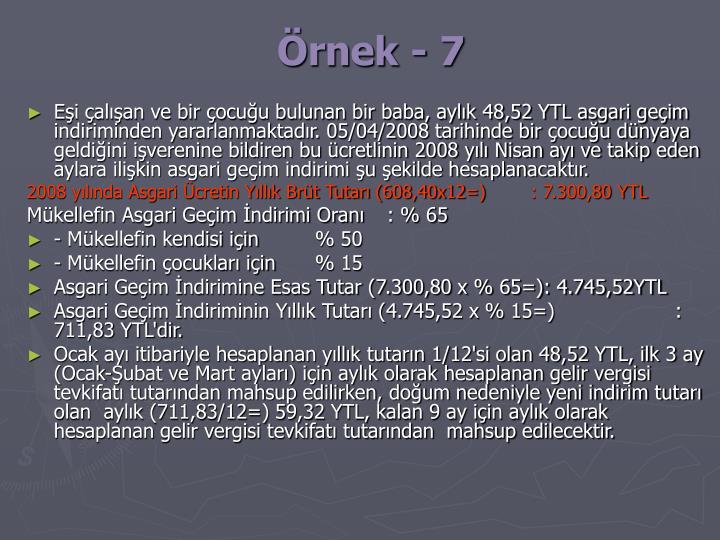 Örnek - 7