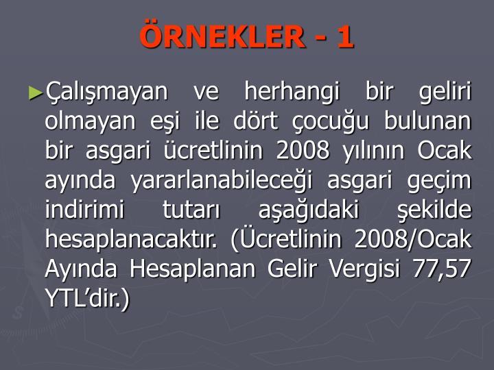 ÖRNEKLER - 1