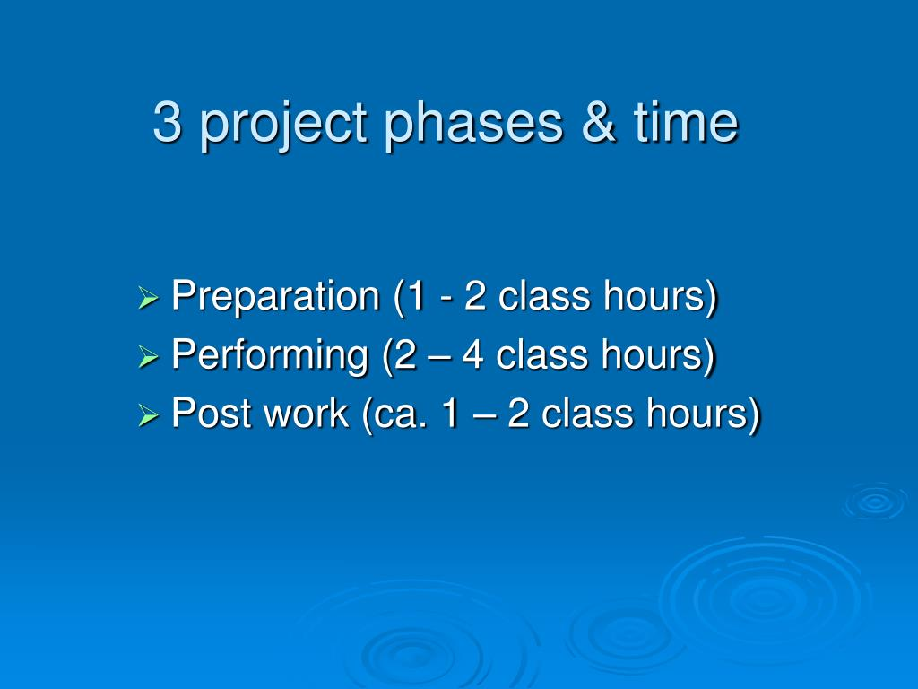 3 project phases & time