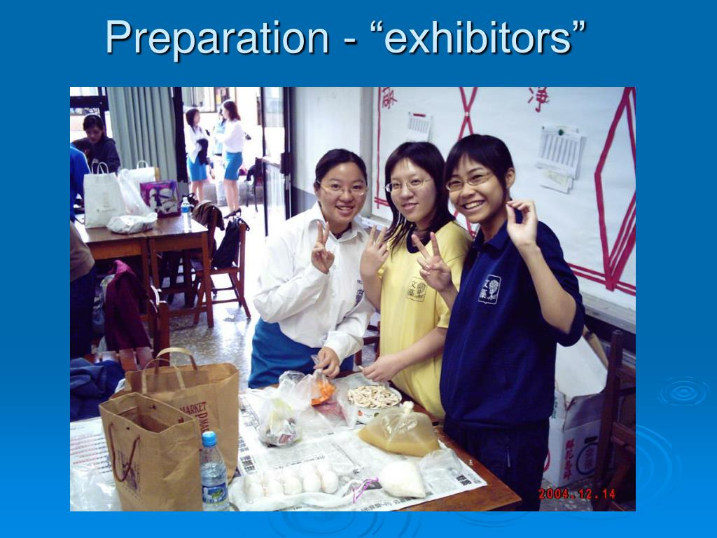 "Preparation - ""exhibitors"""
