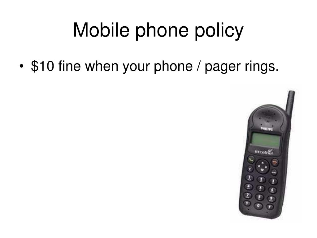Mobile phone policy