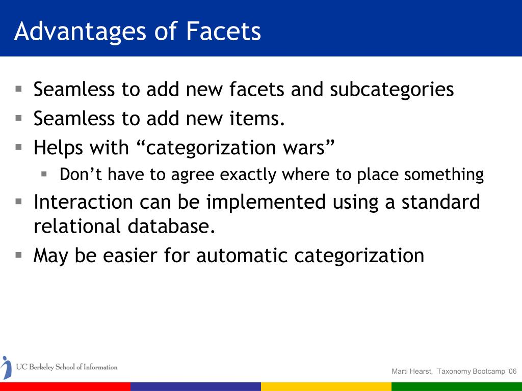 Advantages of Facets
