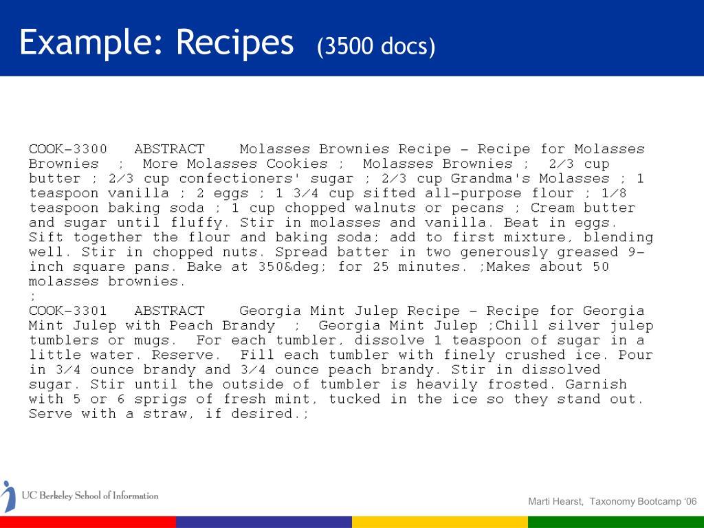 Example: Recipes