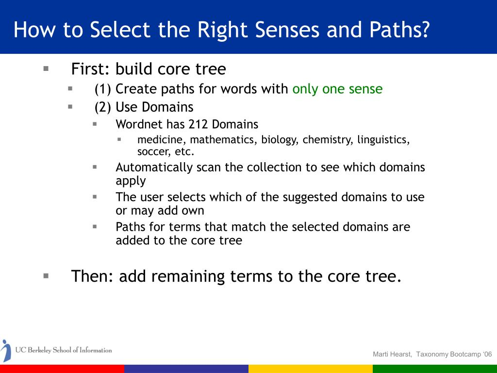 How to Select the Right Senses and Paths?