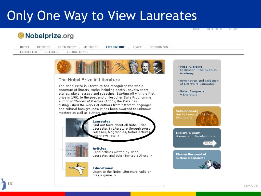 Only One Way to View Laureates