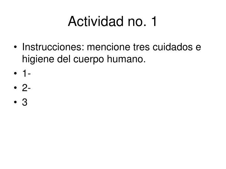 Actividad no. 1