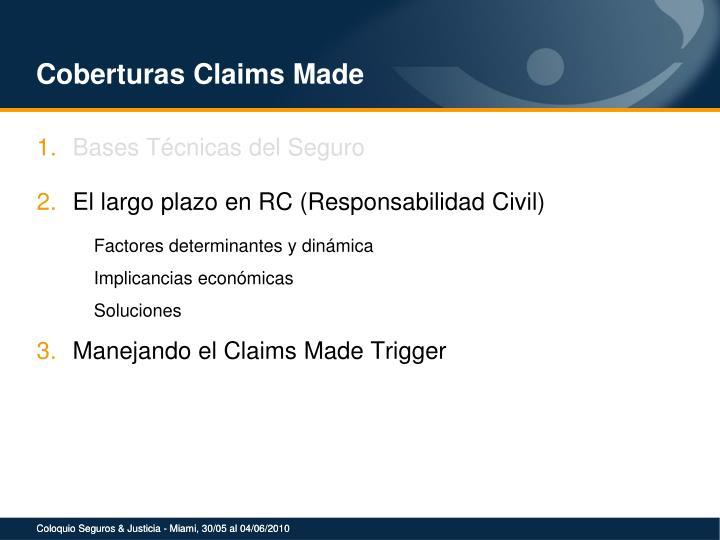 Coberturas Claims Made