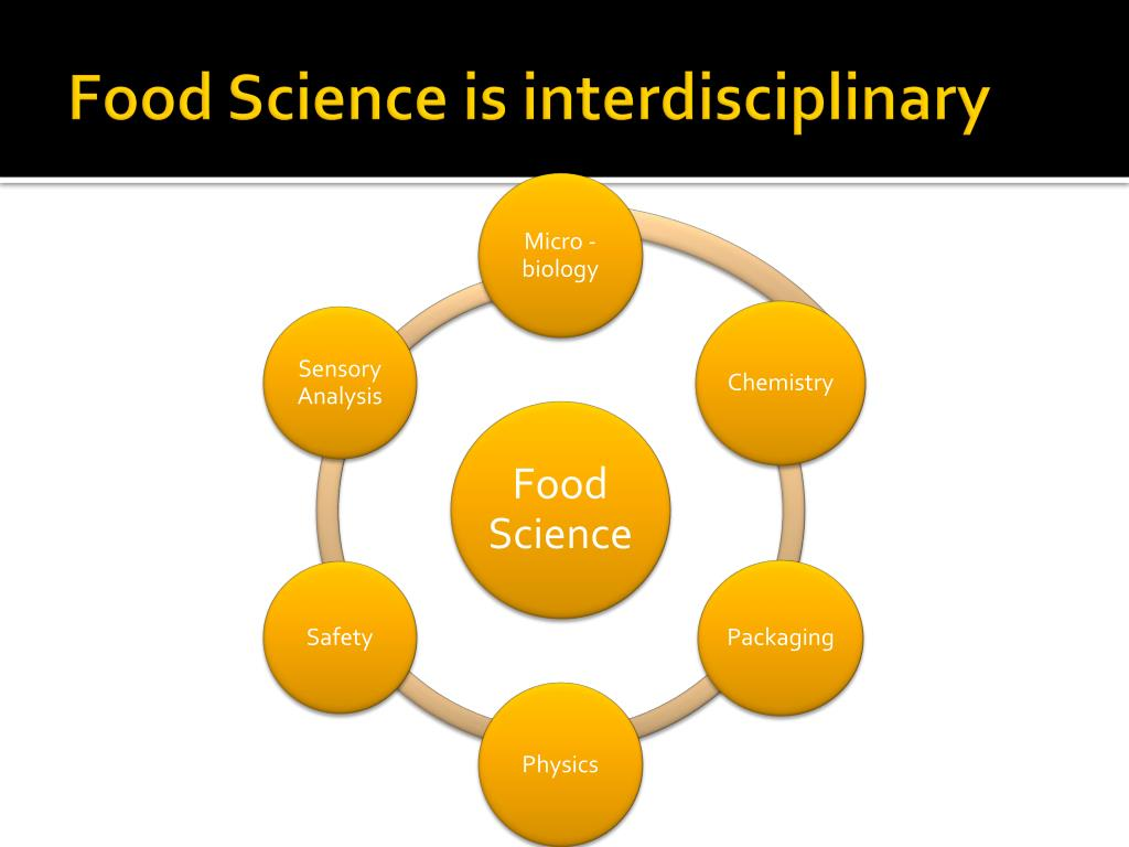 Food Science is interdisciplinary