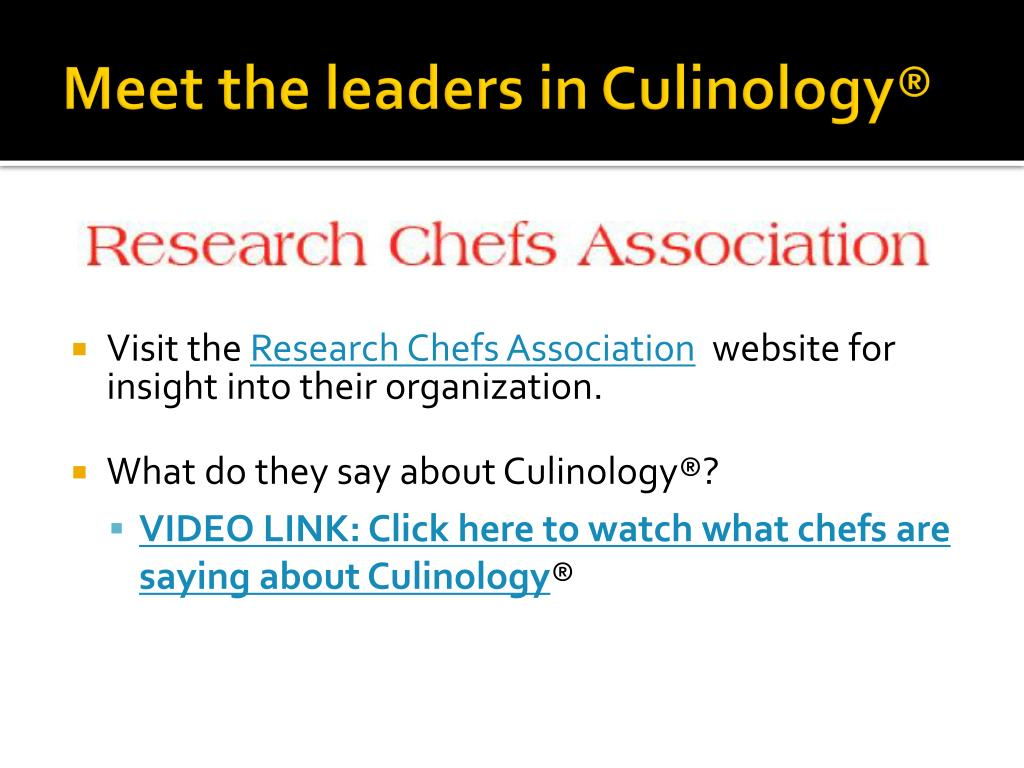Meet the leaders in Culinology®