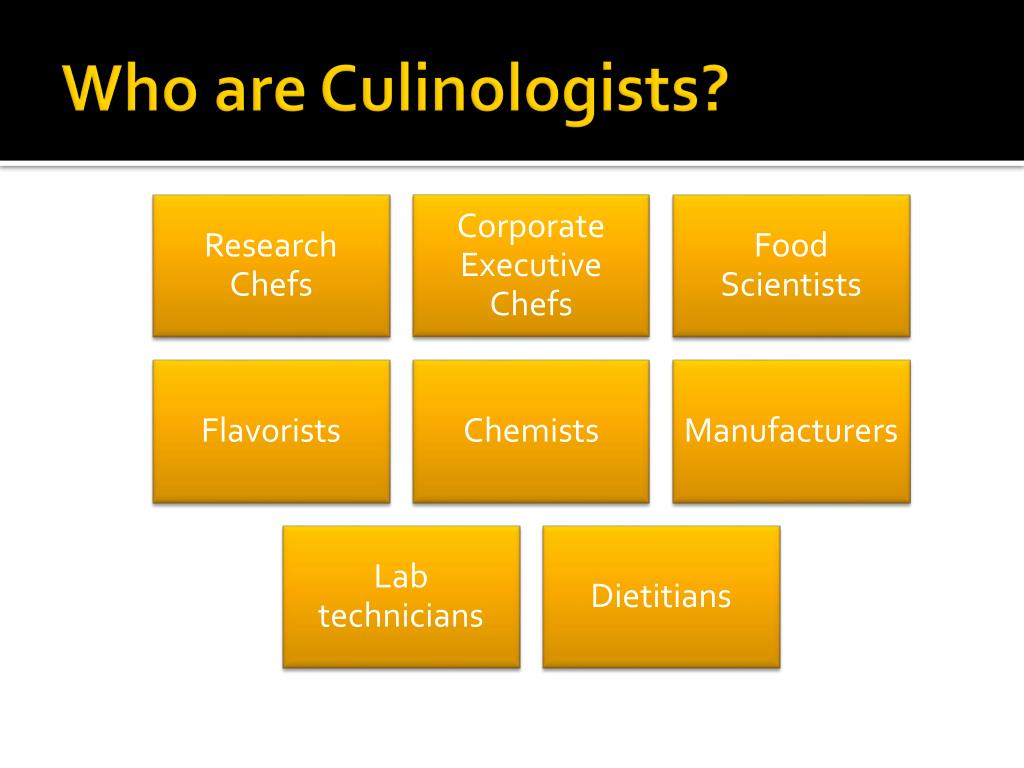 Who are Culinologists?