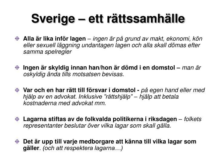Sverige  ett rttssamhlle