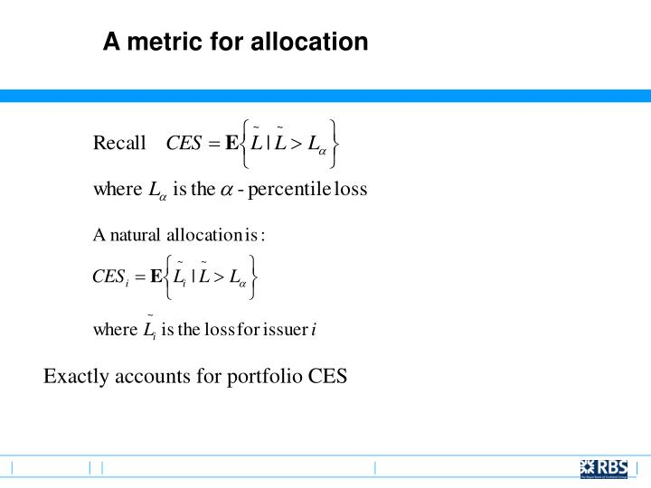 A metric for allocation