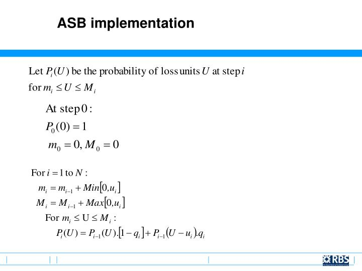 ASB implementation