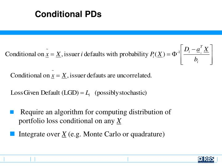 Conditional PDs