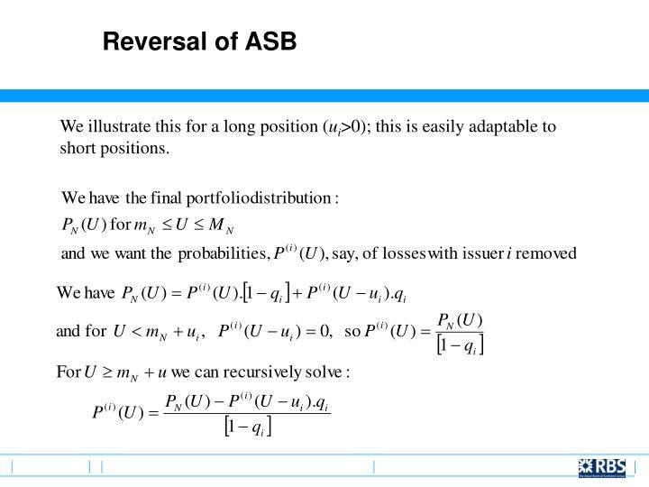 Reversal of ASB