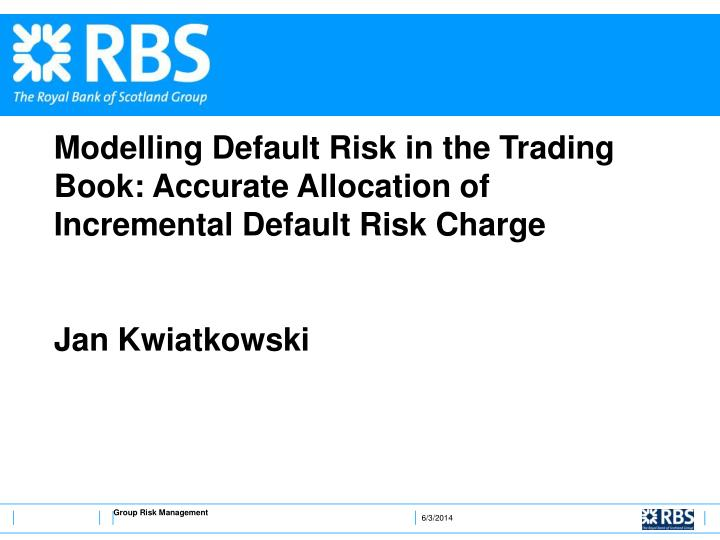 Modelling Default Risk in the Trading Book: Accurate Allocation of Incremental Default Risk Charge