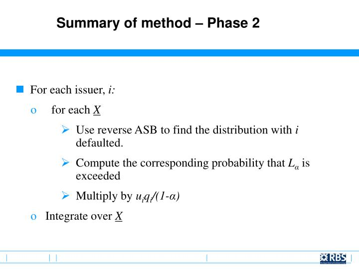 Summary of method – Phase 2