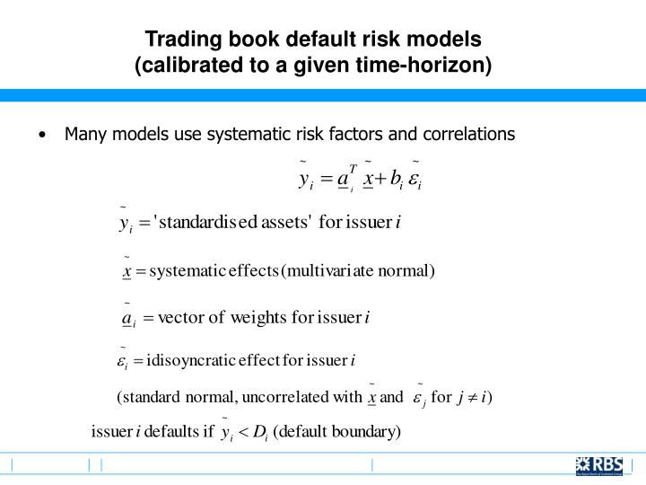 Trading book default risk models