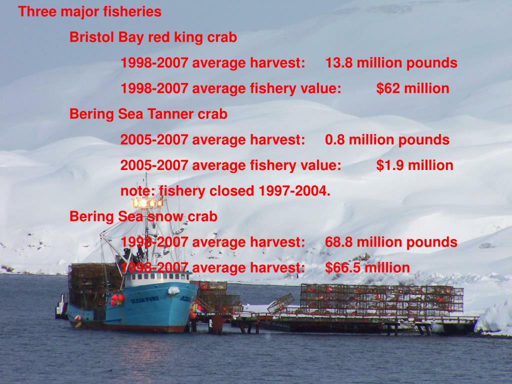 Three major fisheries