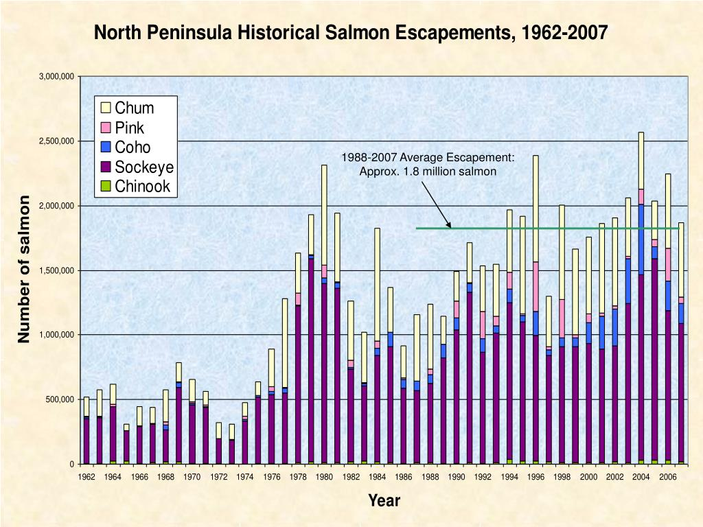 1988-2007 Average Escapement: