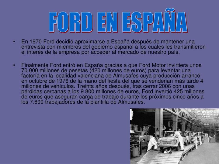 FORD EN ESPAÑA