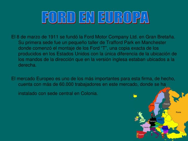 FORD EN EUROPA