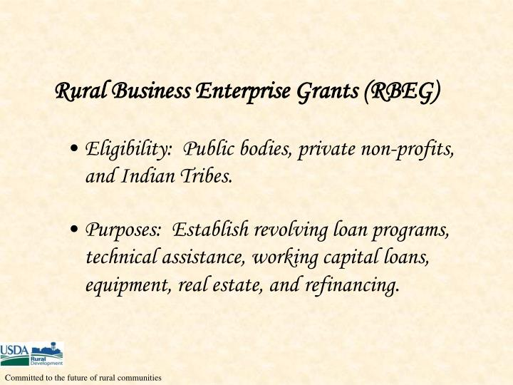Rural Business Enterprise Grants (RBEG)