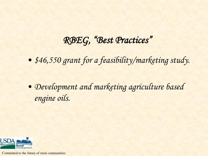 "RBEG, ""Best Practices"""