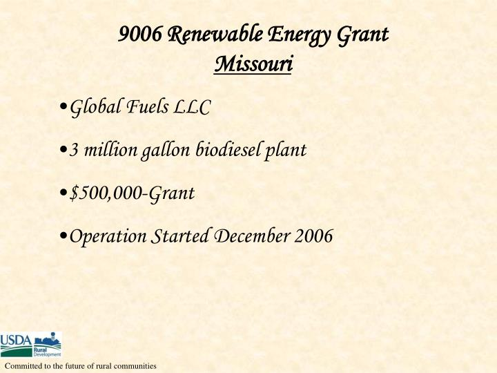 9006 Renewable Energy Grant